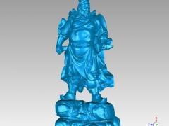 GG011-关公圆雕图关公三维雕刻关公立体图关公精雕图关公四轴圆雕图关公3D模型关公stl图