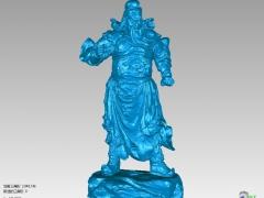 GG012-关公圆雕图关公三维雕刻关公立体图关公精雕图关公四轴圆雕图关公3D模型关公stl图