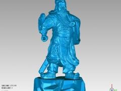 GG013-关公圆雕图关公三维雕刻关公立体图关公精雕图关公四轴圆雕图关公3D模型关公stl图