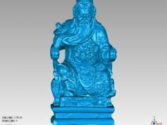 GG019-关公圆雕图关公三维雕刻关公立体图关公精雕图关公四轴圆雕图关公3D模型关公stl图