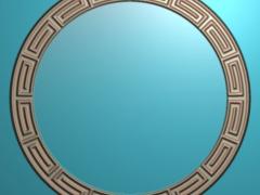 CP001-万字茶盘雕刻图案万字茶盘灰度图万字茶盘浮雕图万字茶盘精雕图