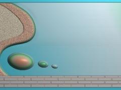 CP002-三圆茶盘雕刻图案三圆茶盘灰度图三圆茶盘浮雕图三圆茶盘精雕图