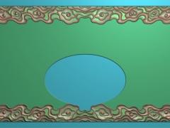 CP011-云头茶盘雕刻图案云头茶盘灰度图云头茶盘浮雕图云头茶盘精雕图
