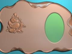 CP018-佛孩茶盘雕刻图案佛孩茶盘灰度图佛孩茶盘浮雕图佛孩茶盘精雕图