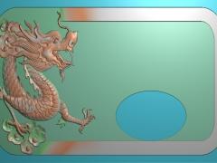 CP027-单龙茶盘雕刻图案单龙茶盘灰度图单龙茶盘浮雕图单龙茶盘精雕图