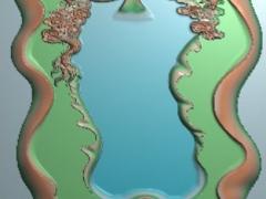 CP030-单龙茶盘雕刻图案单龙茶盘灰度图单龙茶盘浮雕图单龙茶盘精雕图