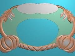 CP033-南瓜茶盘雕刻图案南瓜茶盘灰度图南瓜茶盘浮雕图南瓜茶盘精雕图