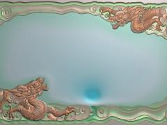 CP038-双龙大茶盘雕刻图案双龙大茶盘灰度图双龙大茶盘浮雕图双龙大茶盘精雕图