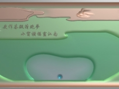 CP047-双龙长茶盘带线雕刻图案双龙长茶盘带线灰度图双龙长茶盘带线浮雕图双龙长茶盘带线精雕图