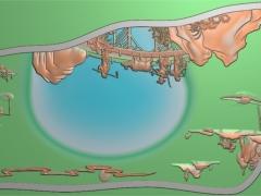 CP048-古人物茶盘雕刻图案古人物茶盘灰度图古人物茶盘浮雕图古人物茶盘精雕图