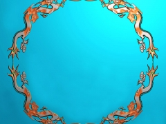 CP053-四龙茶盘雕刻图案四龙茶盘灰度图四龙茶盘浮雕图四龙茶盘精雕图
