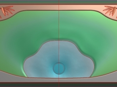 CP067对竹茶盘雕刻图案对竹茶盘灰度图对竹茶盘浮雕图对竹茶盘精雕图下载