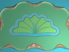 CP092扇形茶几雕刻图案扇形茶几灰度图扇形茶几浮雕图扇形茶几精雕图下载