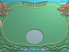 CP107茶盘双龙茶盘雕刻图案茶盘双龙茶盘灰度图茶盘双龙茶盘浮雕图茶盘双龙茶盘精雕图下载