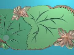 CP119树叶茶盘雕刻图案树叶茶盘灰度图树叶茶盘浮雕图树叶茶盘精雕图下载