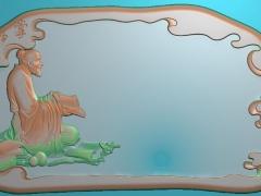 CP138琴棋书画之老者读书茶盘雕刻图案琴棋书画之老者读书茶盘灰度图琴棋书画之老者读书茶盘浮雕图琴棋书画之老者读书茶盘精雕图下载