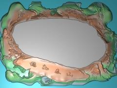 CP148稳如泰山茶盘雕刻图案稳如泰山茶盘灰度图稳如泰山茶盘浮雕图稳如泰山茶盘精雕图下载