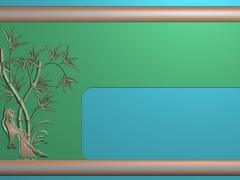 CP149竹子造型茶盘雕刻图案竹子造型茶盘灰度图竹子造型茶盘浮雕图竹子造型茶盘精雕图下载