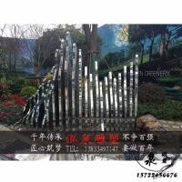 不锈钢抽象镜面片片假山石雕塑别墅门口层叠假山景观装饰摆件