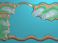 CP198荷叶茶盘雕刻图案荷叶茶盘灰度图荷叶茶盘浮雕图荷叶茶盘精雕图下载