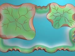 CP199荷叶茶盘雕刻图案荷叶茶盘灰度图荷叶茶盘浮雕图荷叶茶盘精雕图下载