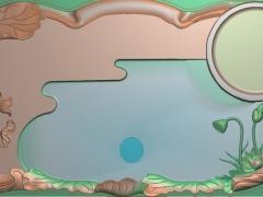 CP208荷花茶盘雕刻图案荷花茶盘灰度图荷花茶盘浮雕图荷花茶盘精雕图下载