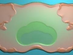 CP218荷花茶盘雕刻图案荷花茶盘灰度图荷花茶盘浮雕图荷花茶盘精雕图下载