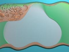 CP268鱼纹饰茶盘雕刻图案鱼纹饰茶盘灰度图鱼纹饰茶盘浮雕图鱼纹饰茶盘精雕图下载