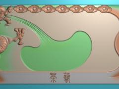 CP287-龙吐水茶盘雕刻图案龙吐茶盘灰度图龙吐茶盘浮雕图龙吐茶盘精雕图