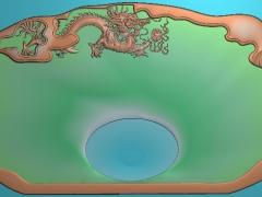CP289-龙纹饰盘雕刻图案龙纹饰盘灰度图龙纹饰盘浮雕图龙纹饰盘精雕图