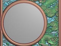 CP293-龙茶盘雕刻图案龙茶盘灰度图龙茶盘浮雕图龙茶盘精雕图