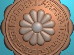 YB004仿古花卉月饼印饼模糕点模具雕刻图仿古花卉月饼印饼模糕点模具灰度图仿古花卉月饼印饼模糕点模具精雕图下载