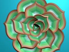 YB014花朵月饼模具雕刻图花朵月饼模具灰度图花朵月饼模具精雕图下载