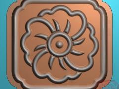 YB023四方太阳花月饼印饼模糕点模具雕刻图四方太阳花月饼印饼模糕点模具灰度图四方太阳花月饼印饼模糕点模具精雕图下载