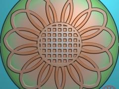 YB027向日葵月饼模具雕刻图向日葵月饼模具灰度图向日葵月饼模具精雕图下载