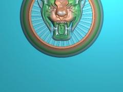 CB009新捷豹车标铜铝雕刻图新捷豹车标灰度图新捷豹车标浮雕图新捷豹车标精雕图下载地址