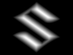 CB026铃木车标铜铝雕刻图铃木车标灰度图铃木车标浮雕图铃木车标精雕图下载地址