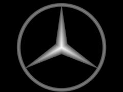 CB052奔驰车标铜铝雕刻图奔驰车标灰度图奔驰车标浮雕图奔驰车标精雕图下载地址