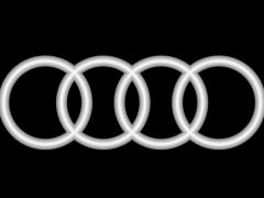 CB055奥迪车标铜铝雕刻图奥迪车标灰度图奥迪车标浮雕图奥迪车标精雕图下载地址