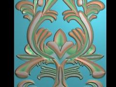 HRMB370门花图门板精雕图制作门板浮雕图门板缕空图门板电脑雕刻图带线门板精雕图下载地址