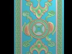 HRMB375门花图门板精雕图制作门板浮雕图门板缕空图门板电脑雕刻图带线门板精雕图下载地址