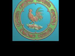 HRBJ041- 金鸡 摆件浮雕图设计 金鸡 摆件雕刻图制作 金鸡 摆件精雕图下载地址