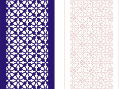 PFLK006-EPS格式中式镂空木雕花格雕刻矢量图CDR格式中式镂空装饰雕刻矢量图案制作中式屏风镂空雕刻矢量图案中式隔断镂空精雕矢量图下载地址
