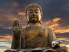 【中国著名雕塑*雕像】香港大屿山宝莲禅寺前23米天坛大佛