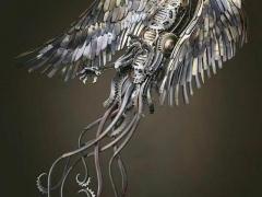 英国的艺术家艾伦·威廉姆斯 自学成才,用废铁打造的动物