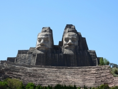【中国著名雕塑*雕像部】河南省郑州市106米炎黄二帝巨型塑