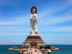 【中国著名雕塑*雕像部】海南省三亚108米南山海上观音