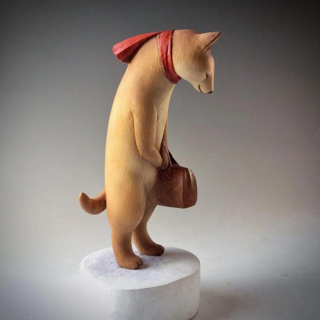 """60岁日本老人的""""治愈系""""木雕,让人直呼""""幸福"""":太大胆了吧"""