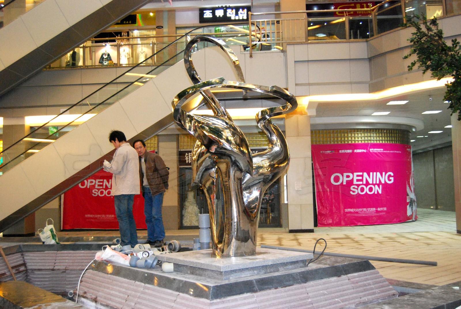 """""""光谷步行街景观雕塑《鹤舞》铸铜雕塑-中易文星雕塑院"""""""