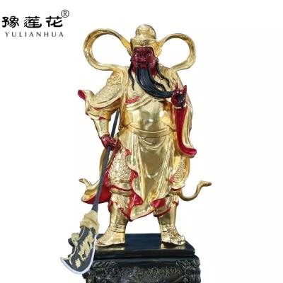 关公神像寺庙塑像定做老关爷神像关帝立像护法关平周仓神像制作